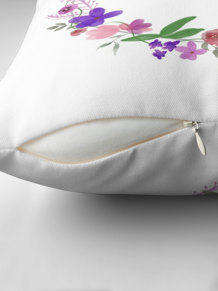 Alternate view of Monogram Letter A Throw Pillow