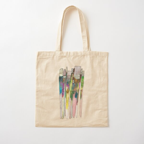 Paintbrushes Cotton Tote Bag