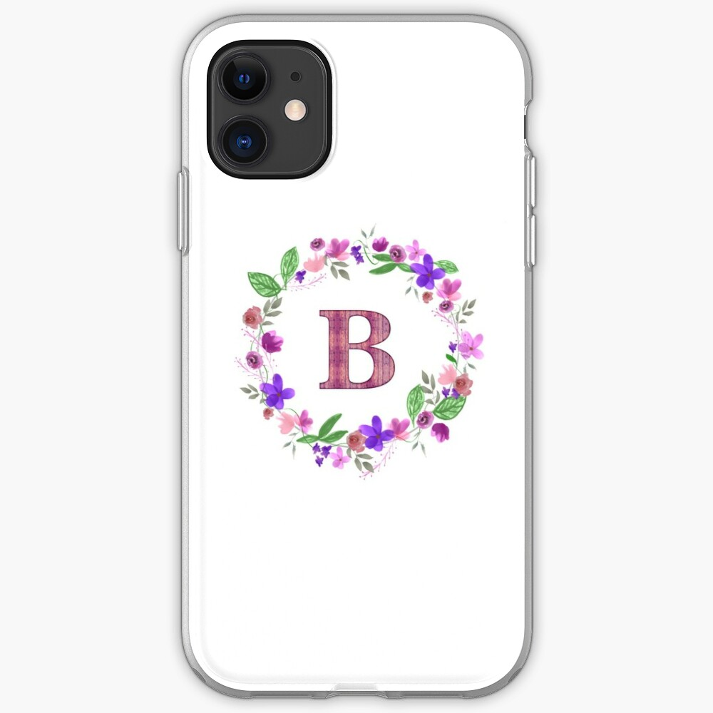 Monogram Letter B iPhone Soft Case