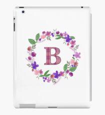 Monogram Letter B iPad Case/Skin