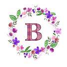 Monogram Letter B by ArtByMichelleT