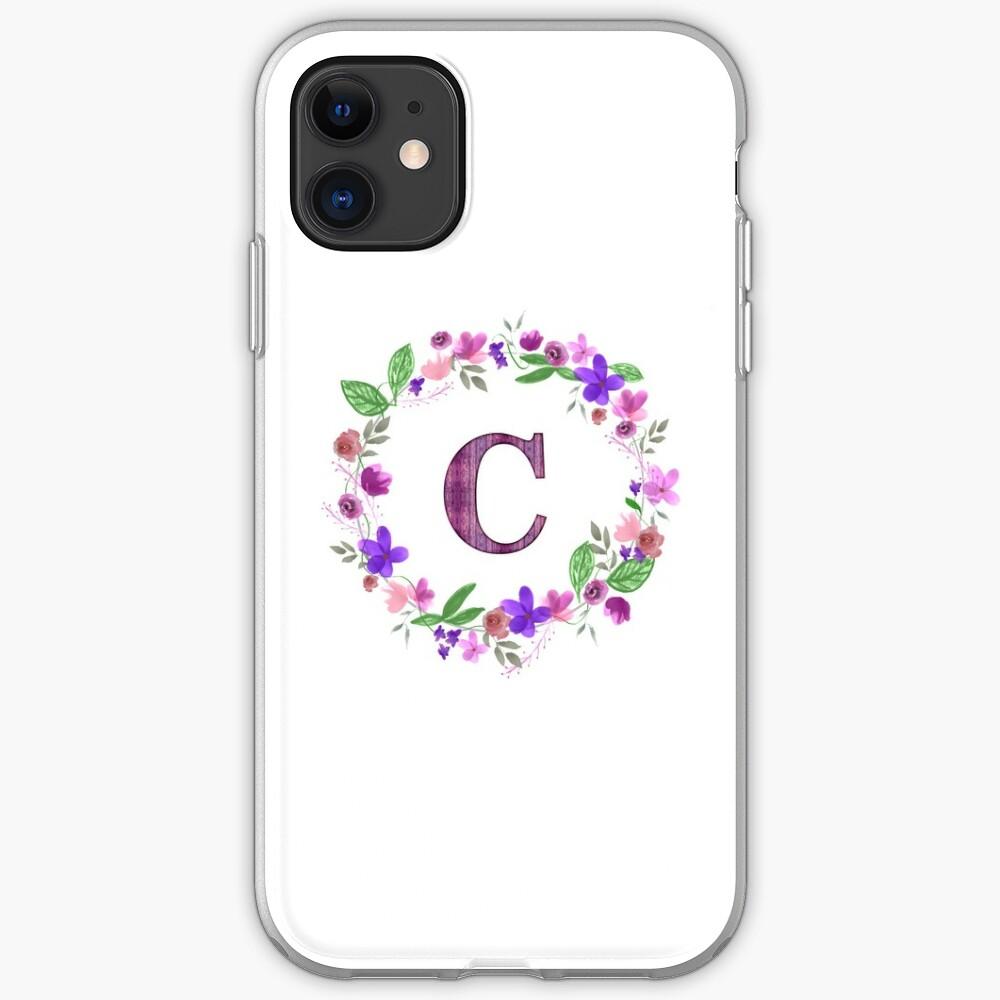 Monogram Letter C iPhone Soft Case