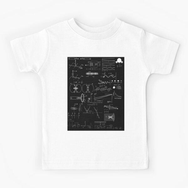 #Physics #Formula Set #PhysicsFormulaSet #FormulaSet Kids T-Shirt