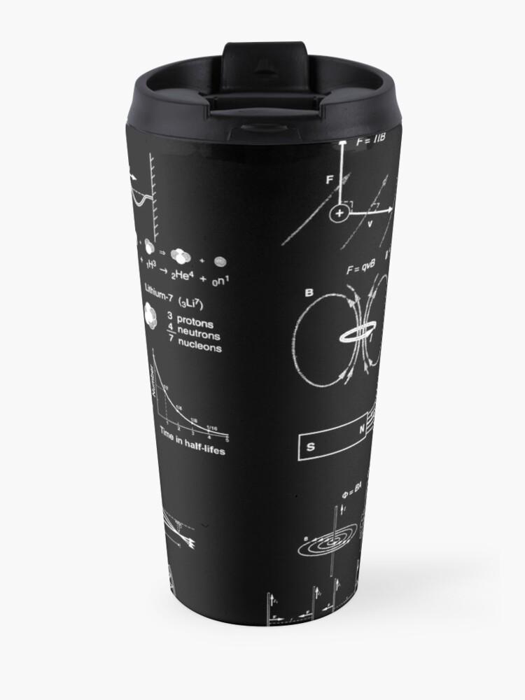 Alternate view of #Physics #Formula Set #PhysicsFormulaSet #FormulaSet Travel Mug