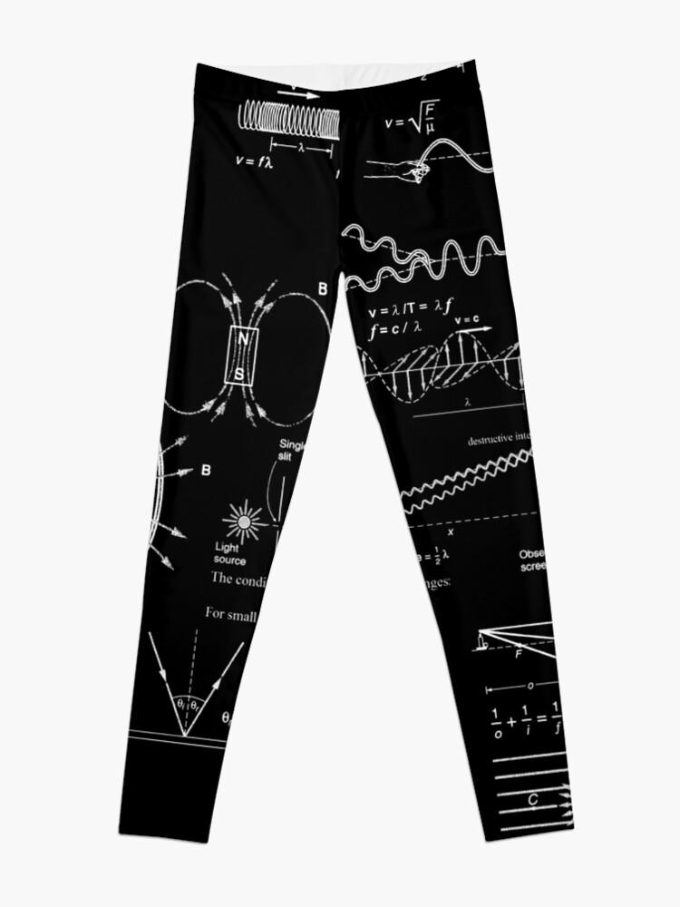 Alternate view of #Physics #Formula Set #PhysicsFormulaSet #FormulaSet Leggings