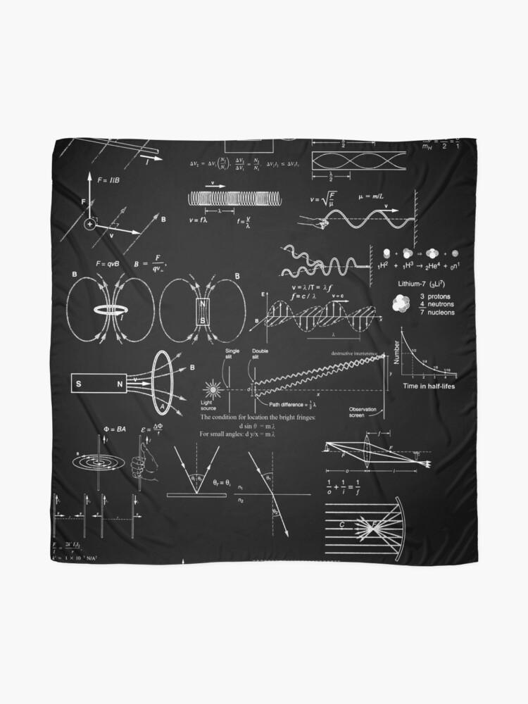 Alternate view of #Physics #Formula Set #PhysicsFormulaSet #FormulaSet Scarf