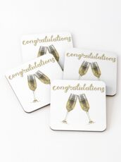 Congratulations Cheers! Coasters