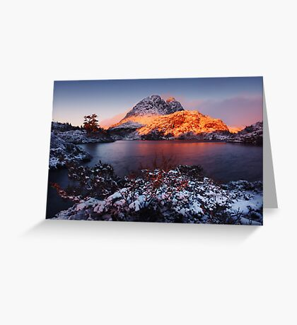 Little Horn in Autumn Snow Twisted Lakes Greeting Card
