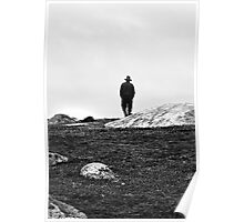 Walking Alone - Dog Rocks Batesford Geelong Poster