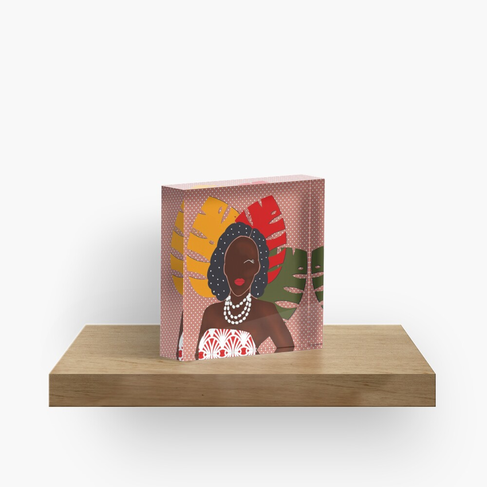 Festival pop art print Acrylic Block