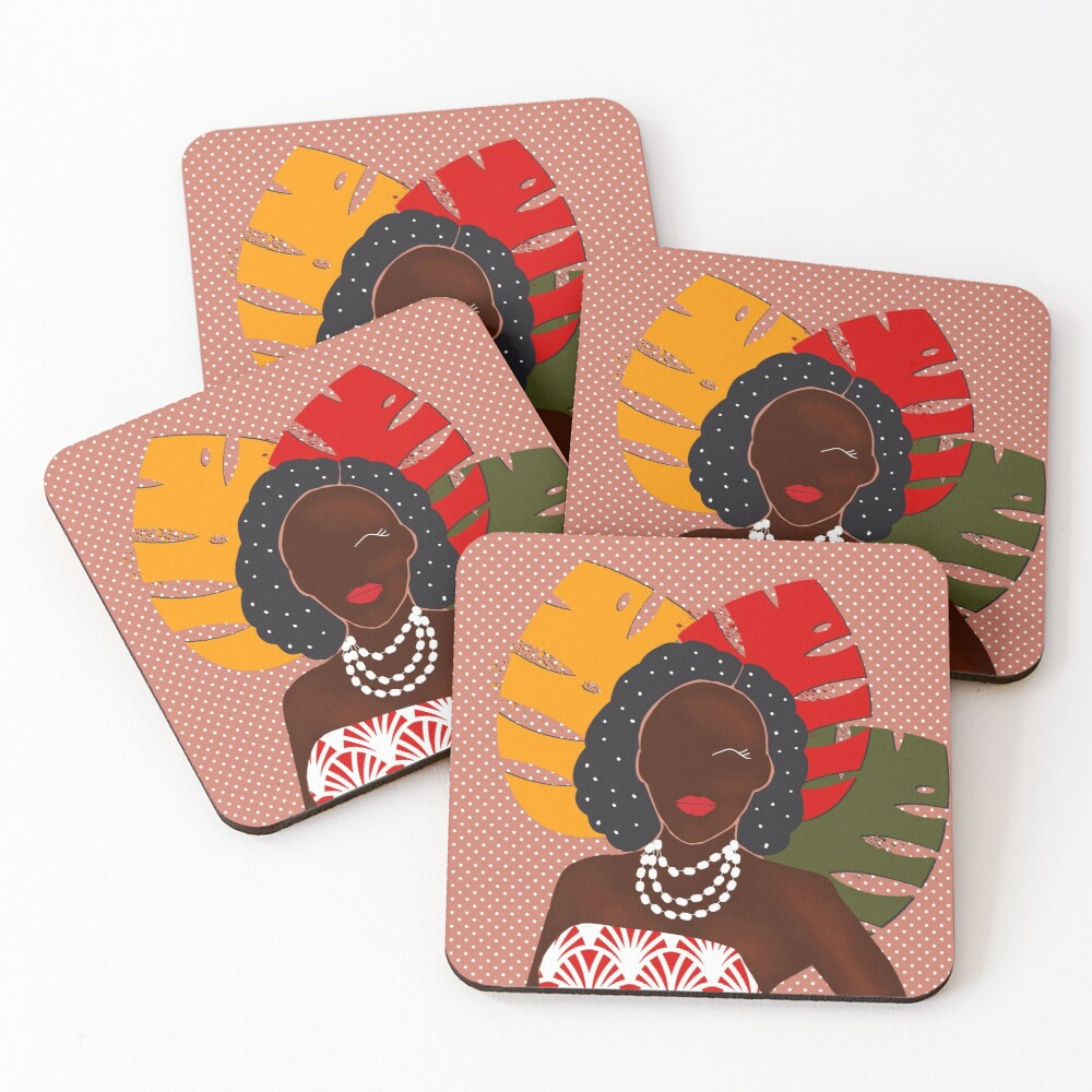 Festival pop art print Coasters (Set of 4)