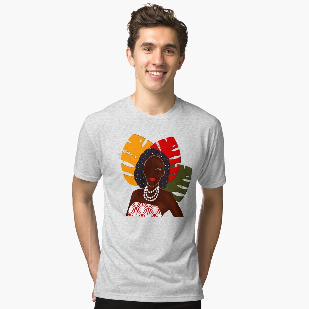 Festival pop art print Tri-blend T-Shirt
