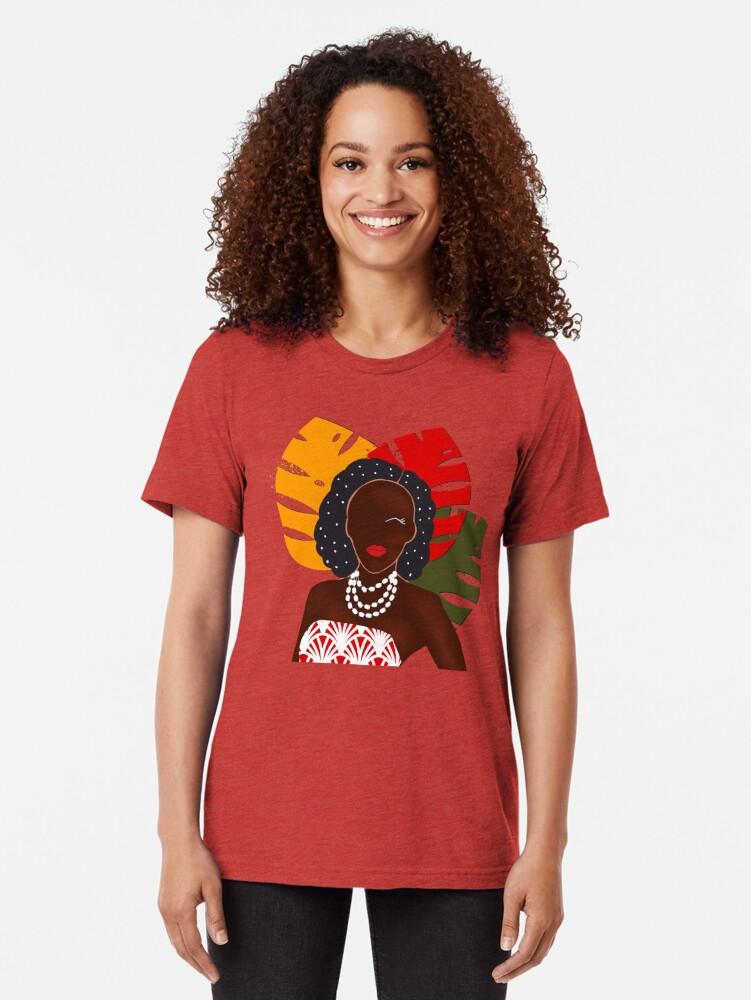 Alternate view of Festival pop art print Tri-blend T-Shirt
