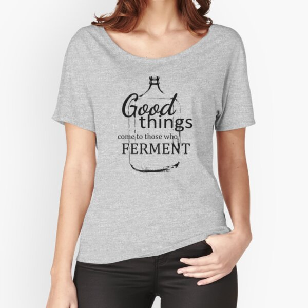 Good Things Come- Black and White Relaxed Fit T-Shirt