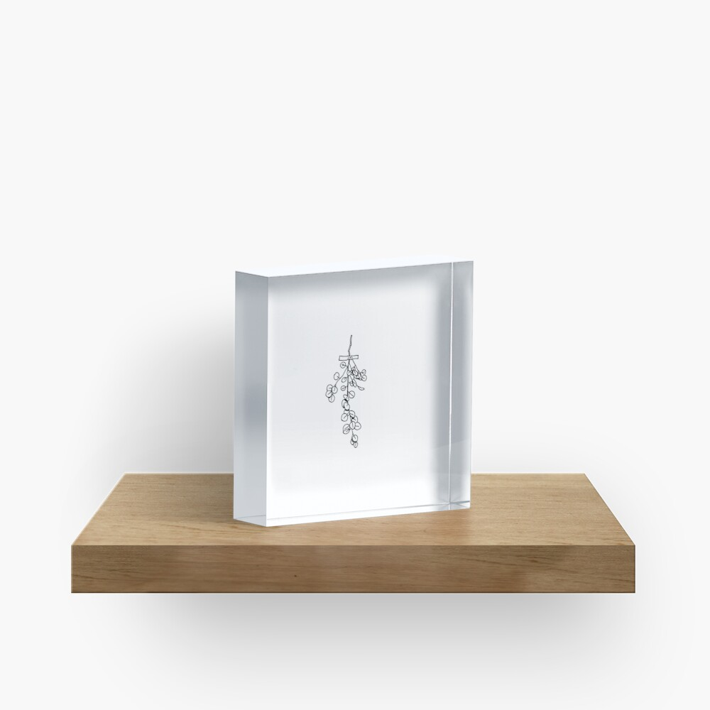 Dried Leaves Flash Acrylic Block