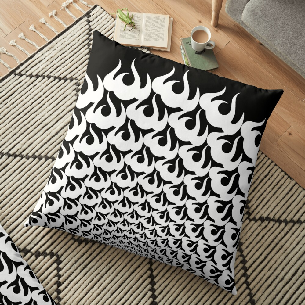 Stoic Fire Vortex - Strength To Fight Back Chaos 1 Floor Pillow