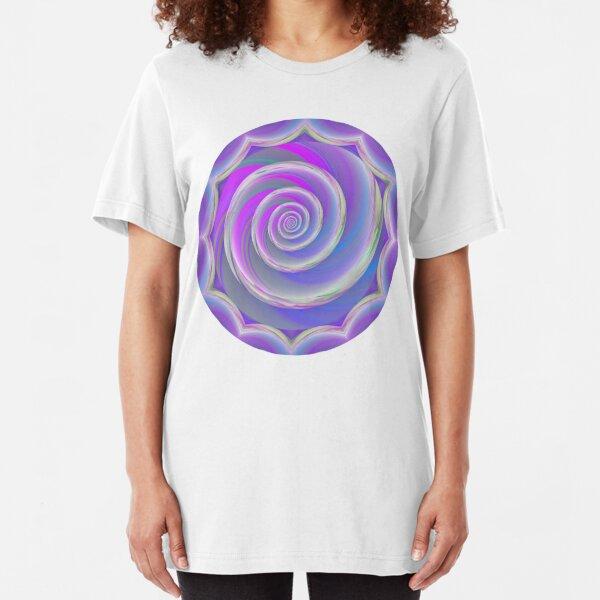 Cotton Candy Swirl  Slim Fit T-Shirt