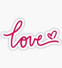 Love Calligraphy Sticker