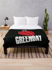 Greenday Heart Granade Throw Blanket