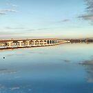 Mirrored Bridge by Deborah  Benoit