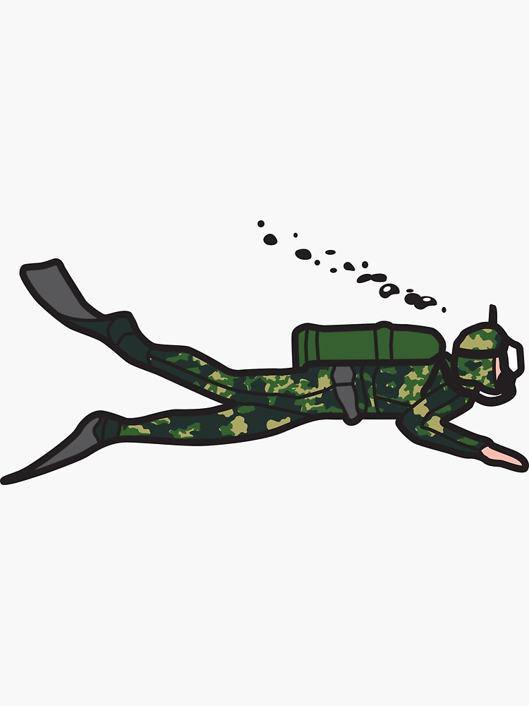 Green Camouflage Diver by trebordesign