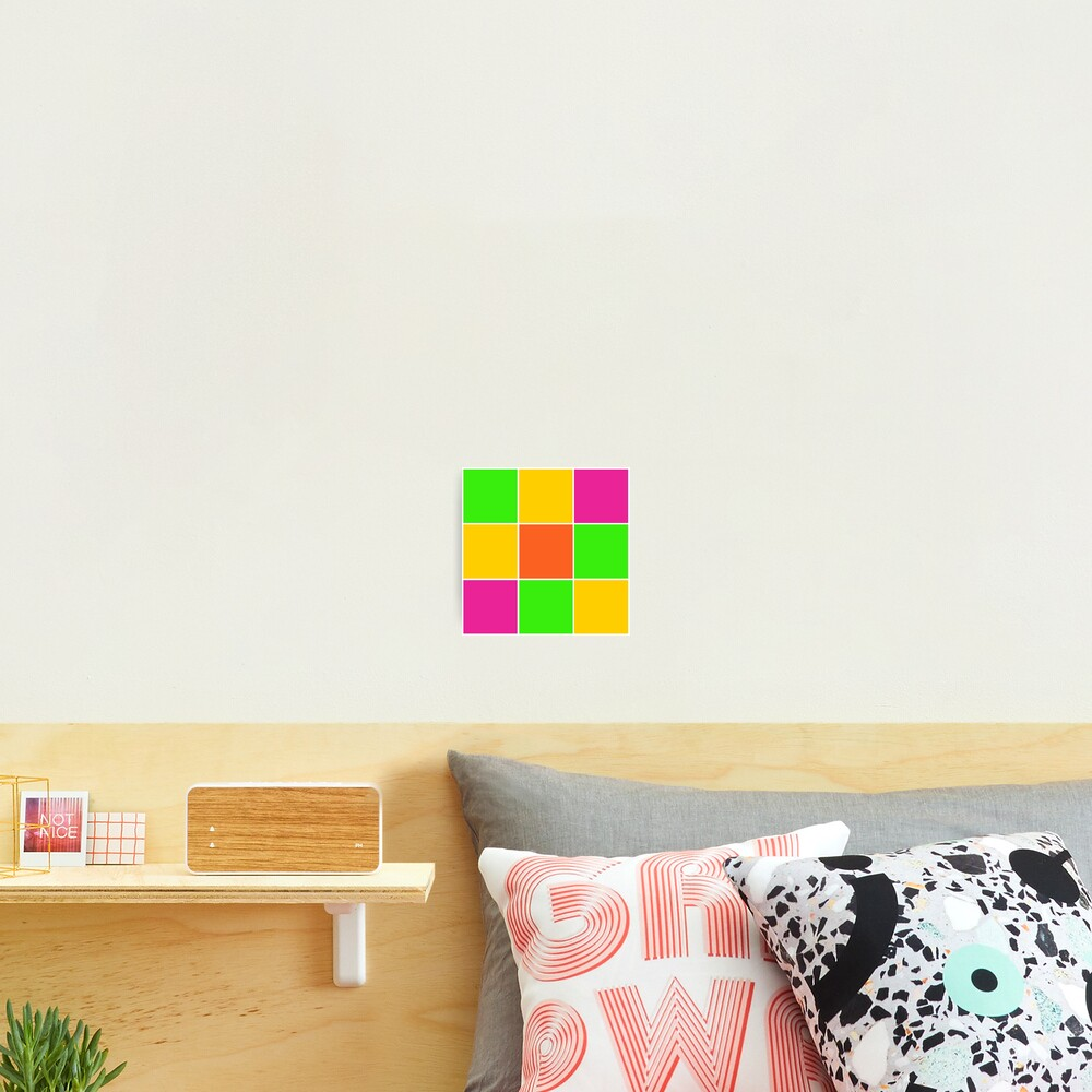 Sprouse inspired color blocks-checkered blocks-pop art Photographic Print