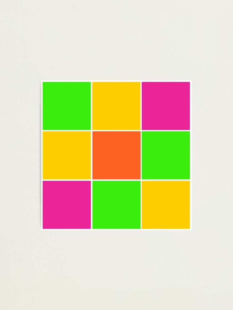 Alternate view of Sprouse inspired color blocks-checkered blocks-pop art Photographic Print