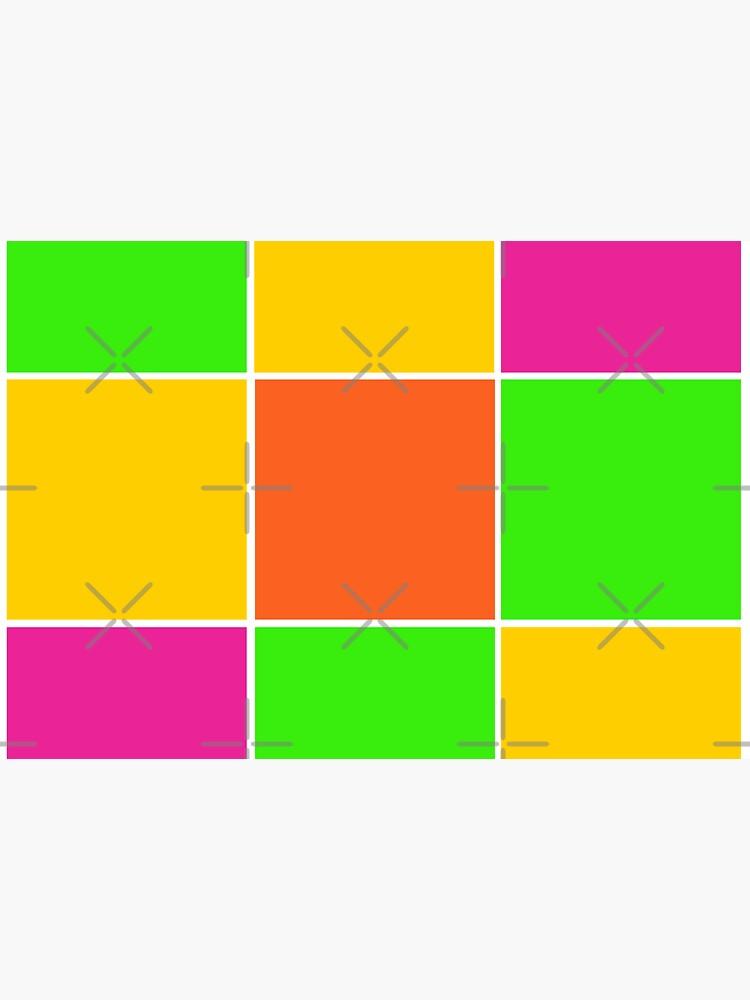 Sprouse inspired color blocks-checkered blocks-pop art by Matlgirl