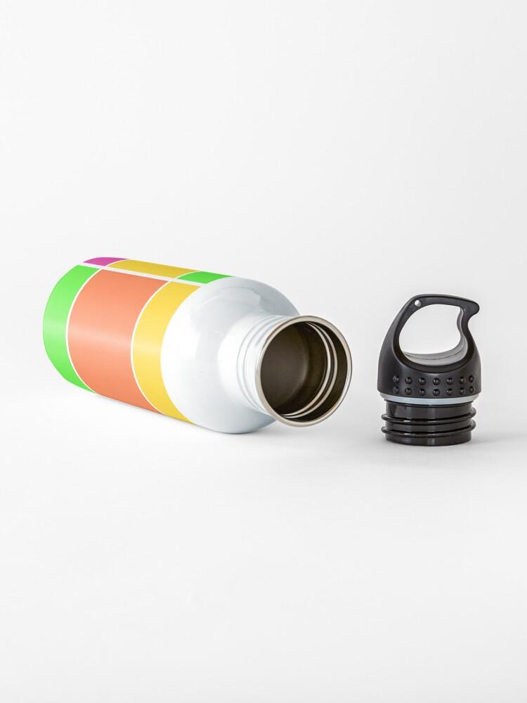 Alternate view of Sprouse inspired color blocks-checkered blocks-pop art Water Bottle
