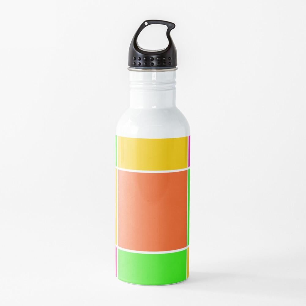 Sprouse inspired color blocks-checkered blocks-pop art Water Bottle