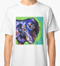 Camiseta clásica Dachshund Dog Bright colorful pop dog art