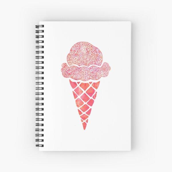 Pink Icrecream Spiral Notebook