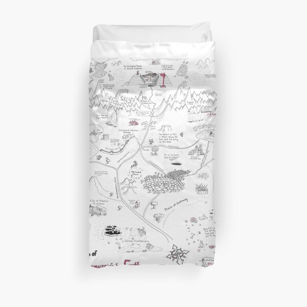 The Map of Manuscript Earth: Expansion Pack Duvet Cover