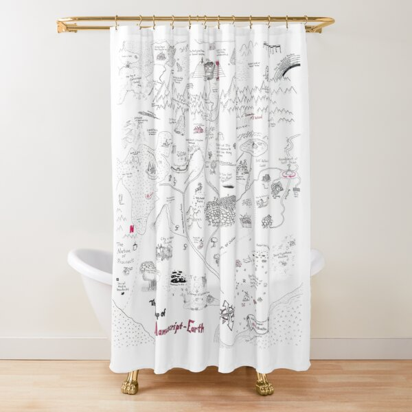 The Map of Manuscript Earth: Expansion Pack Shower Curtain