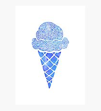 Blue Icecream  Photographic Print