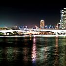 Brisbane River Lights 2 by Aaron Holloway
