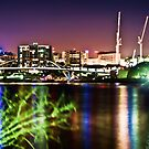 Brisbane City Lights by Aaron Holloway
