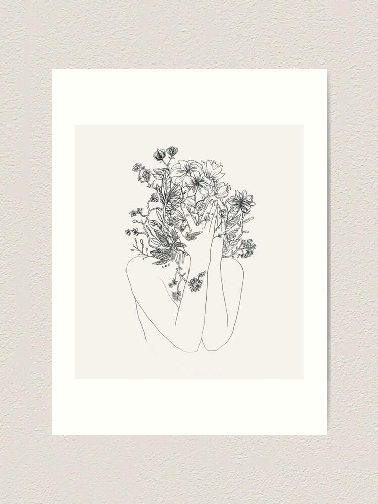 Alternate view of My mind is flowers  Art Print