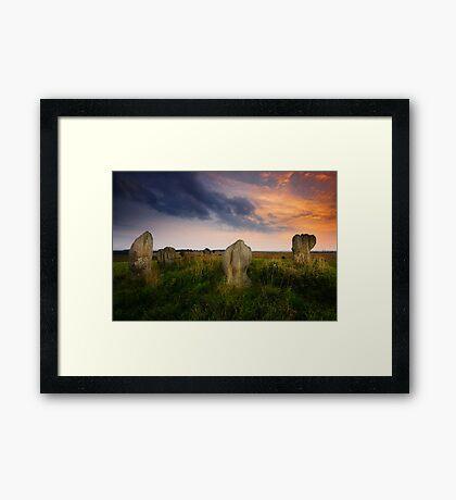 Duddo Stone Circle Framed Print