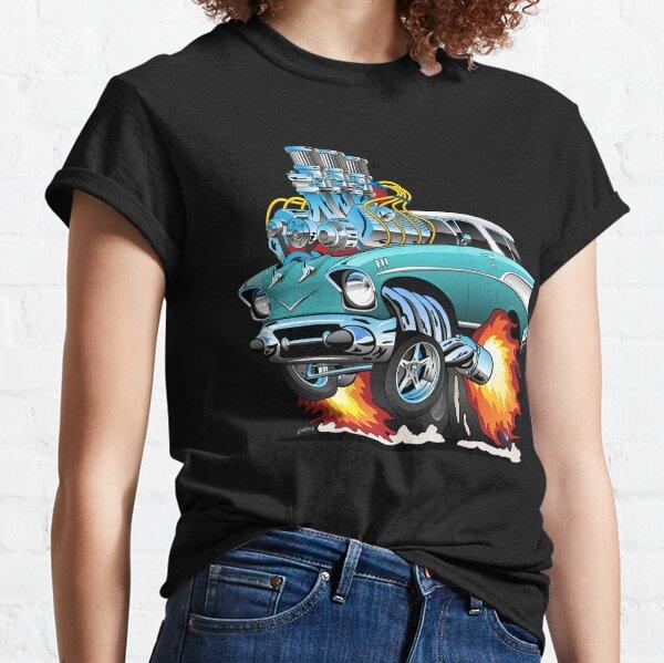 Classic Fifties Hot Rod Muscle Car Cartoon Classic T-Shirt