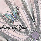 Thinking Of You - Greeting Card by Lynda K Cole-Smith