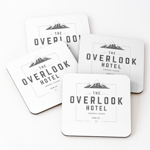 The Overlook Hotel - modern vintage logo Coasters (Set of 4)
