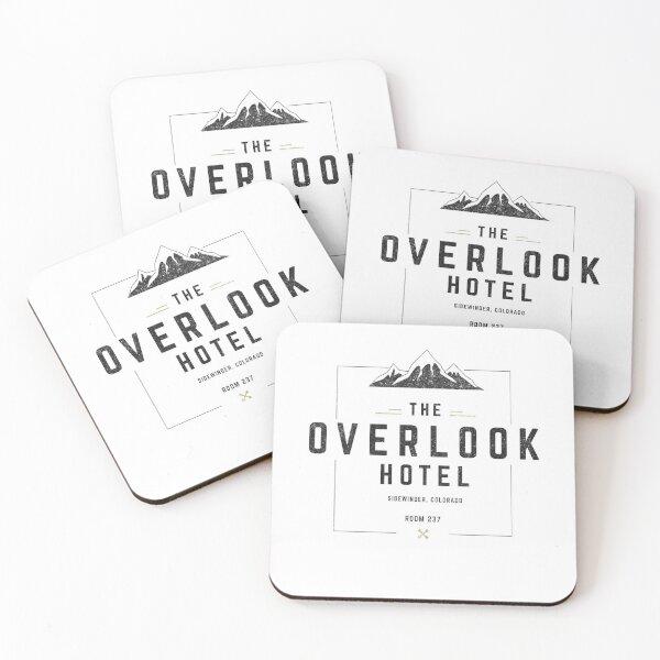 The Overlook Hotel - modern vintage logo Coasters (Set of 4)