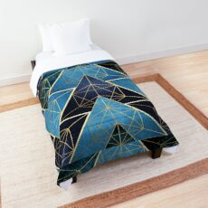 Geometric Excellence in Blue Comforter