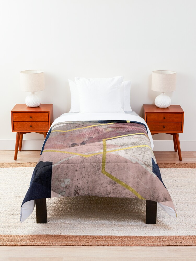 Alternate view of Abstract Geo Comforter