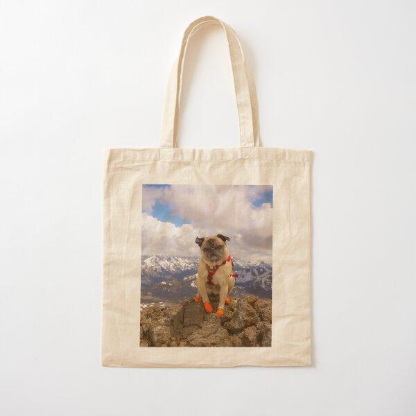 Summit Success for Super Squishface Pug Cotton Tote Bag