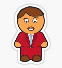 Ron Burgandy Sticker