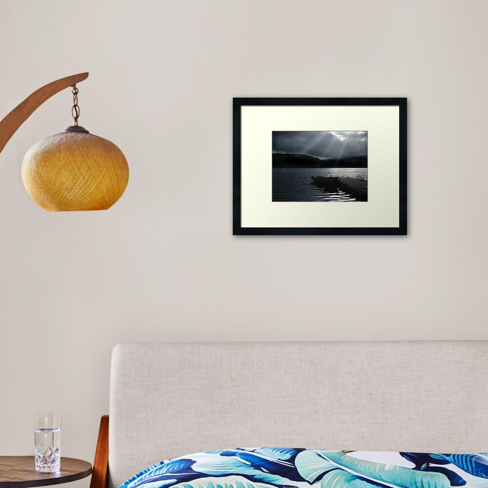 Trossachs Fishing Boat Framed Art Print