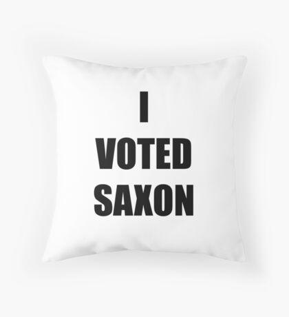 I VOTED SAXON Throw Pillow