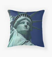 Statue Of Libertys Face..  Throw Pillow